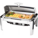 Chafing dish cu capac roll-top seria DELUXE, Saporoso