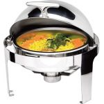 Chafing dish rotund cu capac roll-top seria DELUXE, Saporoso